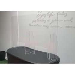 Vitre en plexiglass pour comptoir 60x70cm