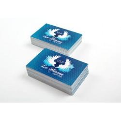 Cartes de visites simples 85x54 mm sans pelliculage 350g couché demi-mat